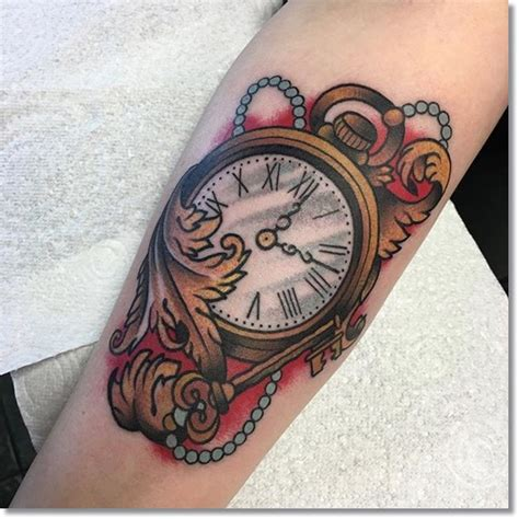 Tattoo Of Us Watch | the top 30 pocket watch tattoos