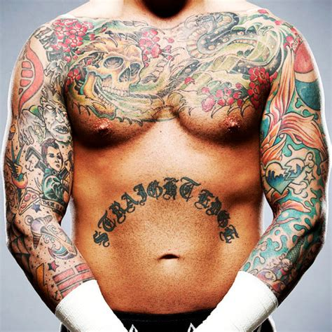 cm punk tattoos shitloads of cm really cool of a lot