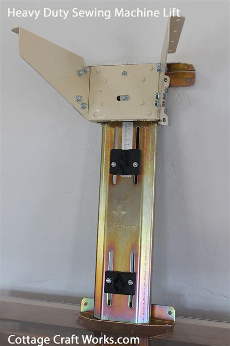 heavy duty sewing cabinet machine air lift mechanism