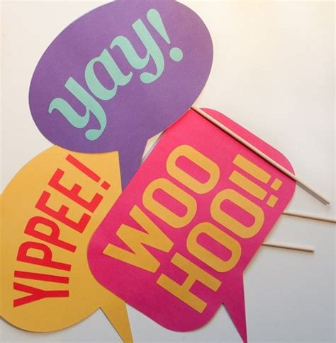 photo booth props printable word bubbles speech bubble cheers on a stick set of 3 photo booth props
