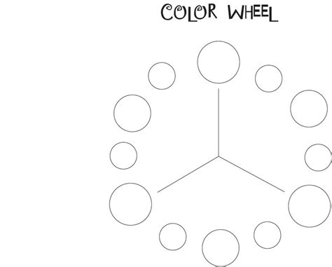 blank color wheel template color wheel blank template pictures to pin on pinsdaddy