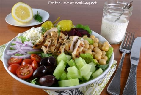 greek salad recipe with grilled lemon chicken culicurious greek salad with lemon herb grilled chicken and creamy