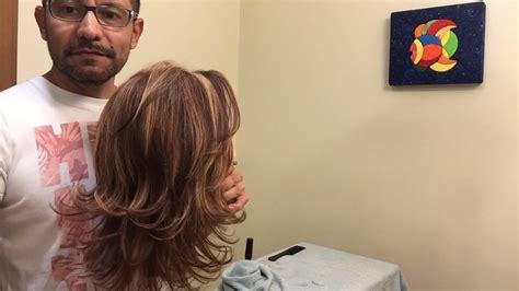 cortes de cabello grados de elevacion corte de cabello en capas layered haircut viyoutube