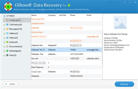 android data gihosoft android data recovery
