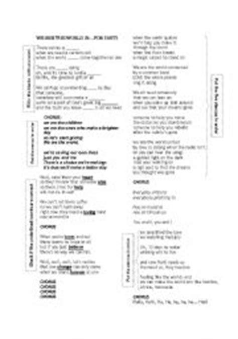 printable lyrics we are the world we are the world 25 for haiti lyrics