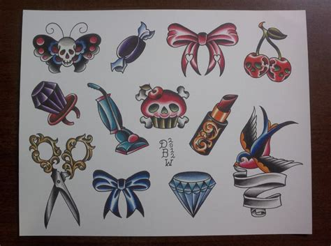 tattoo flash sites one for the ladies traditional tattoo flash sheet 10 00