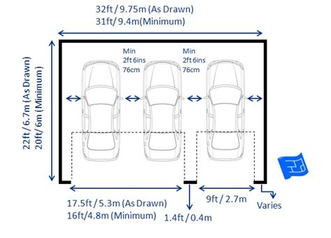 double car garage size garage dimensions