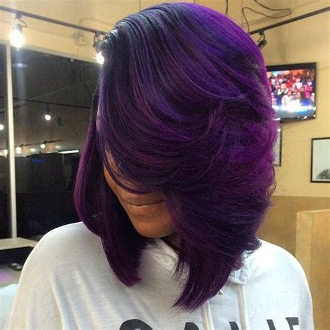 black hairstyles weave on for summerblack and purple 877 best images about bad ass hair styles and color on