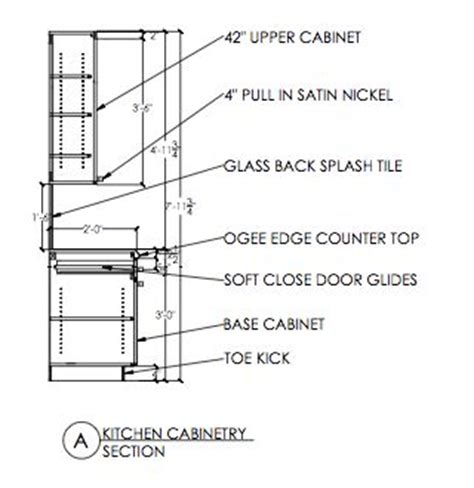 TECHNICAL DRAWING (AutoCAD) Kitchen Cabinetry Section   t