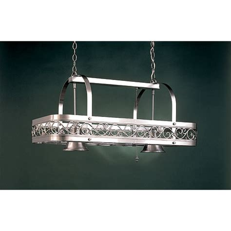 Kitchen Pot Hanging Rack With Lights Two Light Pot Rack Hi Lite Lighted Pot Racks Pot Racks Kitchen
