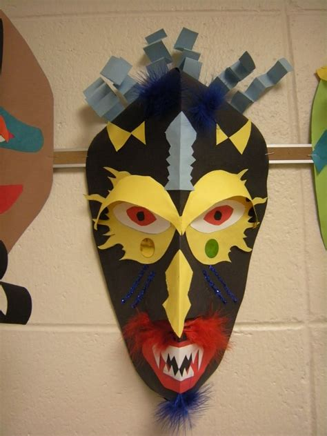 Paper Craft Mask - these masks were made by 5 th graders with my sub