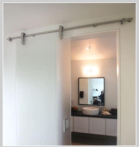 barn door bathroom privacy environite