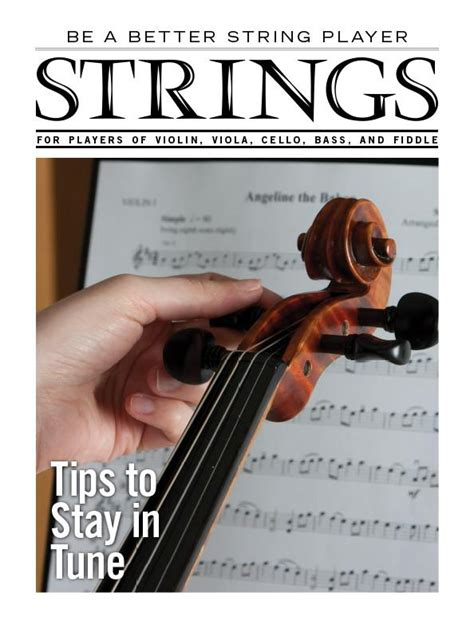 String Tips - be a better string player tips to stay in tune strings