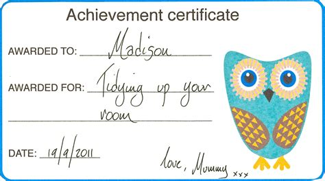 mock certificate achievement certificates for kids create play love