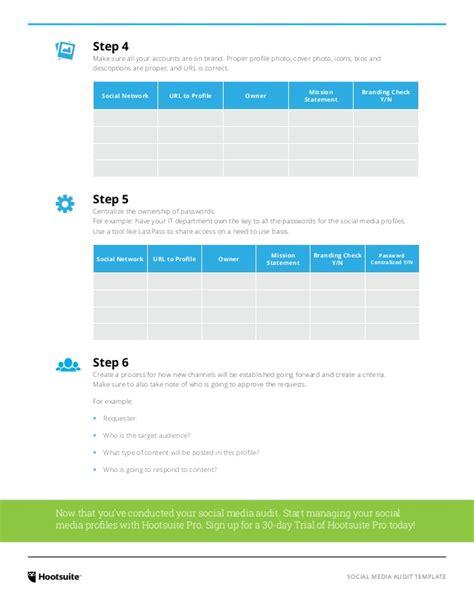 Social Media Audit Template Hootsuite Social Media Audit Template Hootsuite