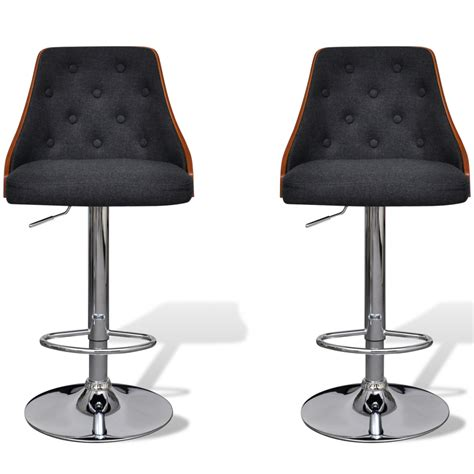 Bar Stool With Backrest Bar Stool Height Adjustable With Backrest 2 Pcs Www Vidaxl Au