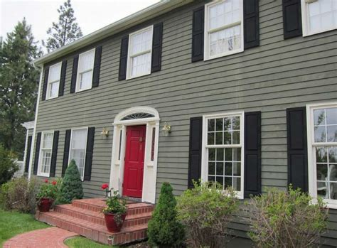 green house red door how to paint your house with green wall paint color theme