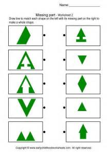 Where Can I Find Matching Missing Parts Ot Visual Perceptual Shapes