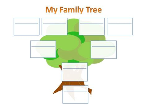 school project single parent family tree chart ancestry