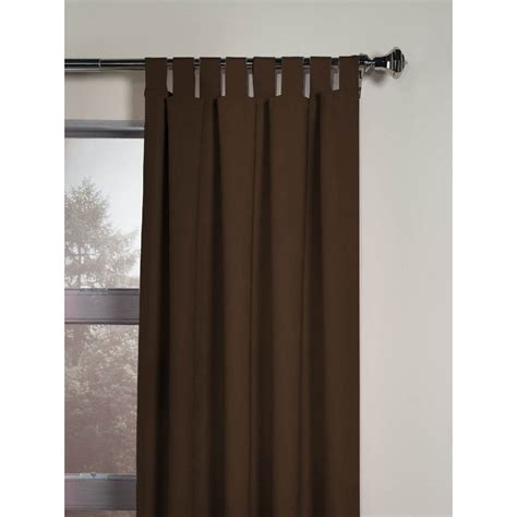 brown tab top curtains soft microsuede tab top curtain window treatment brown