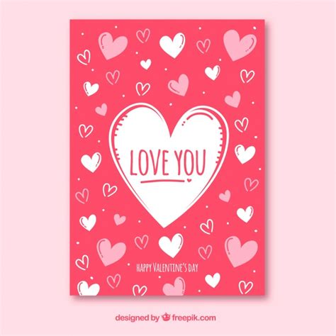 valentines day card template psd s day card template vector free