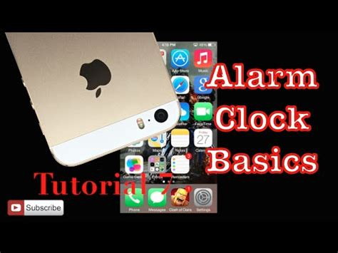 youtube tutorial iphone 5s setting the alarm on your iphone 5s tutorial 7 youtube