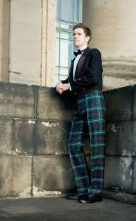 military style fishtail back tartan trews by scotweb