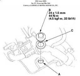 2006 acura mdx changing transmission fluid transmission