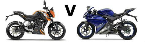 Ktm R 125 Versus Ktm Duke 125 Vs Yamaha Yzf R125 Visordown