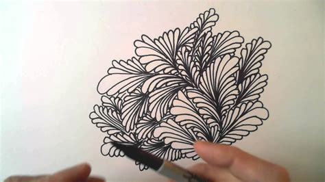 freehand space filling patterns 4 a dense leaf design