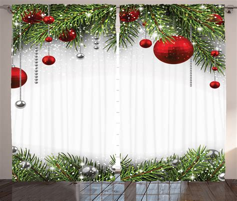 christmas curtain panels christmas curtains 2 panels set bright baulbes tree home