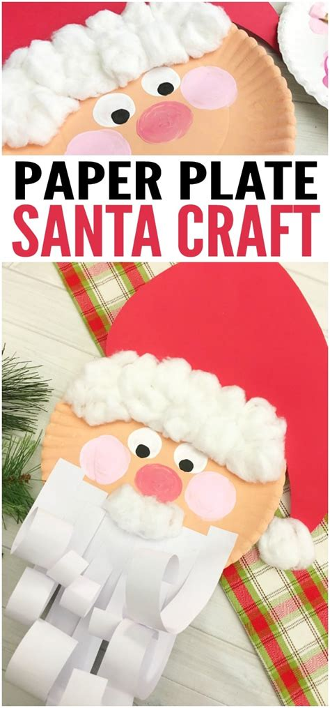 Paper Plate Santa Craft - jolly santa paper plate craft easy peasy and