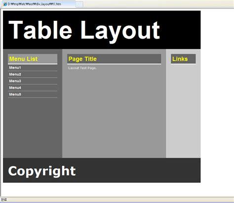 layout design css div 이건없지 css 웹표준 div layout sle 샘플 예제