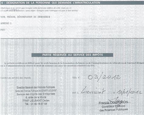 Modèle Lettre Demande De Quitus Quitus Fiscal Demande De Quitus Fiscal Immatriculation En Ligne