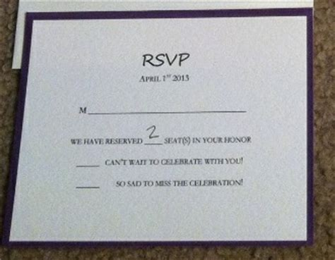 how do you fill out wedding response cards show me your rsvp cards weddingbee