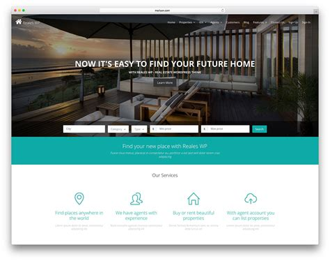 36 Best Real Estate Wordpress Themes For Agencies Realtors And Directories 2018 Colorlib Real Estate Listing Website Template