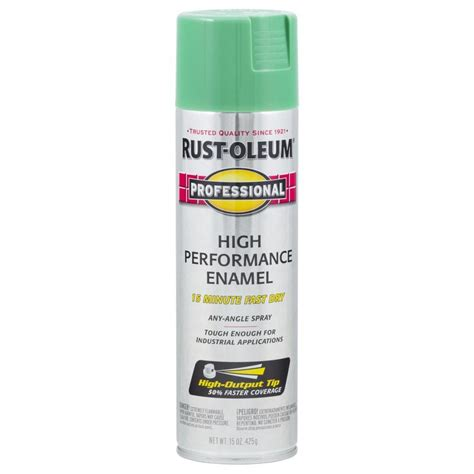 shop rust oleum professional safety green rust resistant enamel spray paint actual net contents