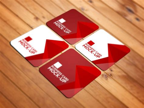 Free Square Business Card Template Psd by 21 Square Business Card Mockups Free Premium Designyep