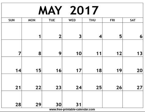 printable calendar 2017 for planner may 2017 calendar printable templates printable calendar hub