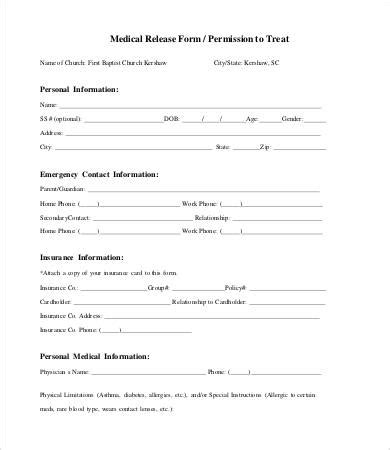 release form template 10 free sle exle format