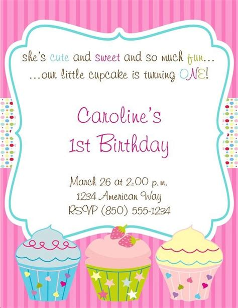 cupcake invitations template 25 best ideas about cupcake invitations on