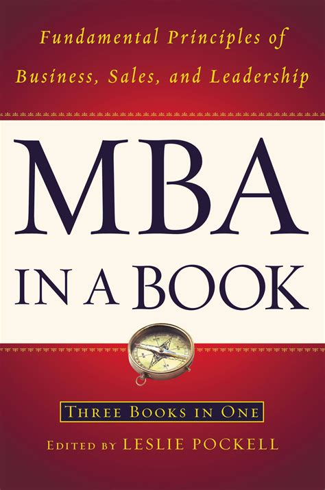 Arrow Books For Mba by Mba In A Book By Leslie Pockell Hachette Book