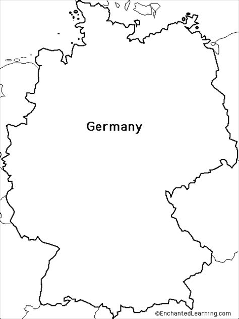 germany map printable germany map outline