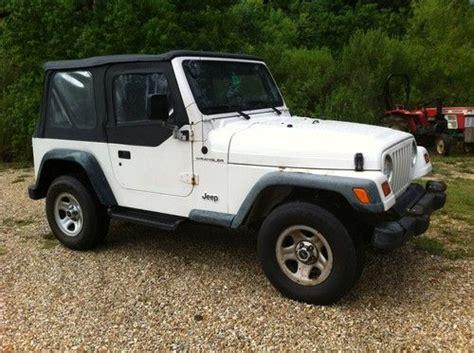 1998 Jeep Wrangler Se Find Used 1998 Jeep Wrangler Se Sport Utility 4x4 4 Cyl 5