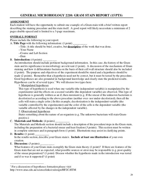 microbiology lab report sle exle of a microbiology