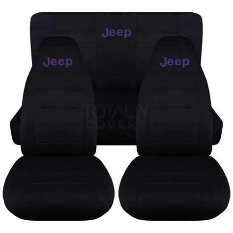 Seat Covers For Jeeps Jeep Wrangler Yj Tj Jk 1987 2017 Black Seat Covers W Logo