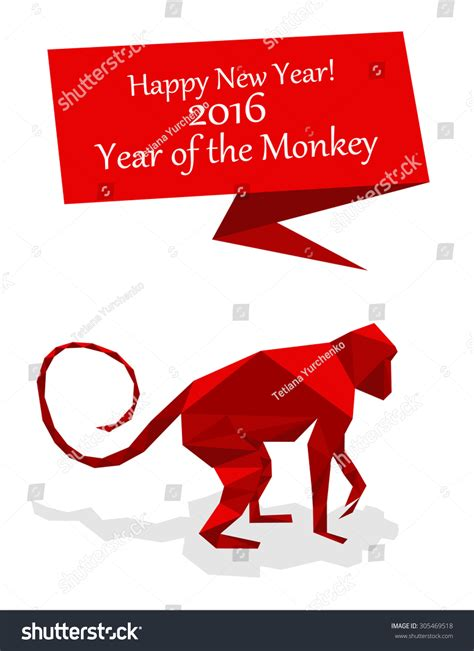 new year monkey origami new year origami paper monkey 2016 celebration card