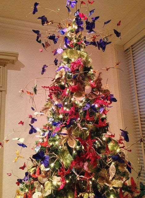 chic christmas 12 purple monarch butterfly ornament topper