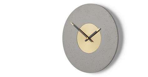 best made wall clock birgen wall clock grey and brass made com