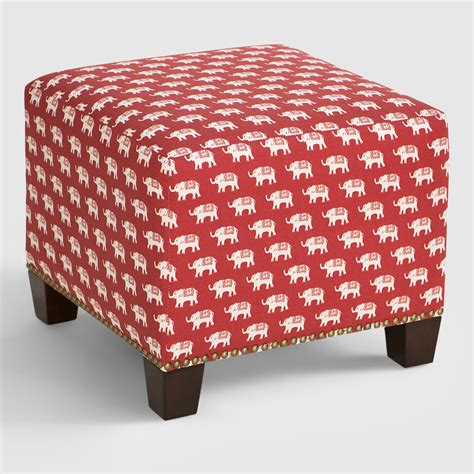 cost plus ottoman red elephant mckenzie upholstered ottoman world market